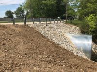 Side view of completed County Road 300 project in Randolph County Indiana by CivilCon, Inc.