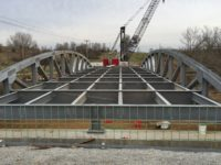 View of County Bridge 15 on Salem Noble Road in Clark County Indiana by CivilCon, Inc. while under construction.