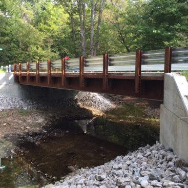 Side view of completed Plymouth County Bridge 57 project in Scott County Indiana by CivilCon, Inc.