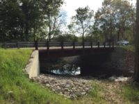 Completed Plymouth Road County Bridge 57 project in Scott County Indiana by CivilCon, Inc.