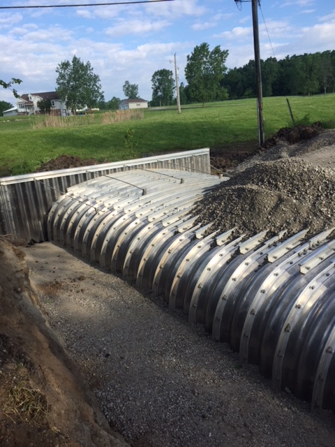 Painter Road aluminum culvert and pipe in Allen County Indiana by CivilCon, Inc.