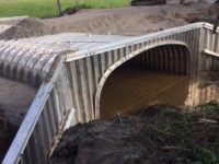 Painter Road box culvert under construction in Allen County Indiana by CivilCon, Inc.