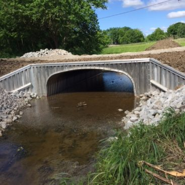 Painter Road aluminum box culvert project in Allen County Indiana by CivilCon, Inc.